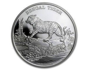 1 oz 2015 Bengal Tiger Silver Proof Coin