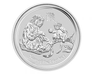 1 oz 2016 Perth Mint Year of the Monkey Silver Coin