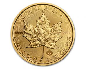 1 oz New Style Canadian Maple Leaf Gold Coin