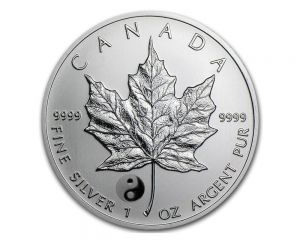 1 oz 2016 Canadian Maple Leaf Yin Yang Privy Reverse Proof Silver Coin