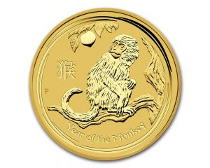 1/4 oz 2016 Perth Mint Year of the Monkey Gold Coin