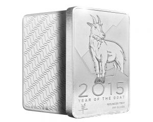 5 oz 2015 NTR Year of the Goat Silver Bar